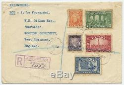 Canada 1927 First Day Cover with Sc. #141-145 Confederation Set Kamloops BC to UK