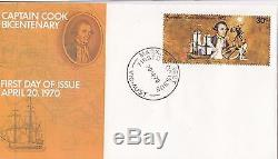 Captain Cook 30c stamp on official Australia Post small FDC, unaddressed & rare