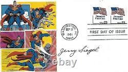 Cartoonist Jerry Siegel signed FDC Creator of Superman Comic Book Writer HOF