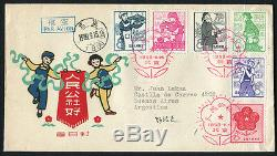 China PRC1959 S35 Peoples Communes FDC to Argentina Rare