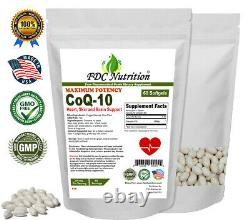 CoQ-10 200mg 60 Softgels Coq10 Co Q10 Coenzyme Heart Support Made in USA
