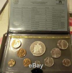 Coffret 1980 FDC 1 centime épi à 50 francs hercule argent