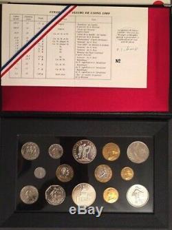Coffret FDC 1989 avec la 10 francs Montesquieu