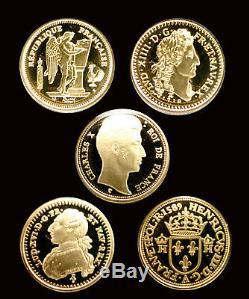 Coffret L'or De La France Le 5 Monnaies Les Plus Rares De Notre Patrimoine