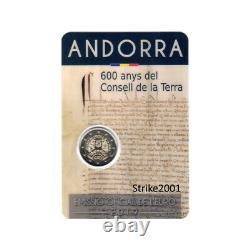 Coin Card 2 EURO COMMEMORATIVO ANDORRA 2019 Fdc Consell de la Terra