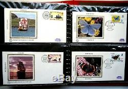 Collection Of Benham SILK First Day Covers, Various Topics, 1981 51 Covers