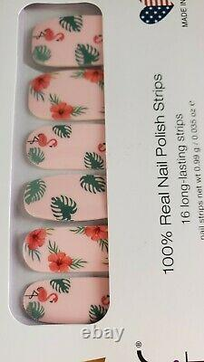 Color Street FLOCKING Fabulous Nail Polish Strips RARE HTF Flamingo Design
