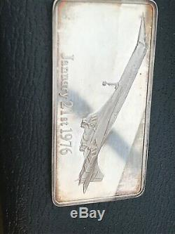 Concord Silver Ingot Presentation Pack Danbury Mint (Box, FDC, COA) 1976