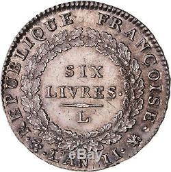 Convention Six livres Louis XVI 1793 L Bayonne état non circulé FDC magnifique