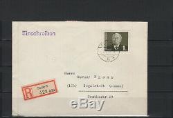 DDR, Nr. 342-343 auf echt gelaufenen Einschreibe-FDC