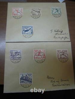 Deutsches Reich 609-616 FDC ERSTTAGSBRIEF Olympiade 1936, 2 Briefe (21686)