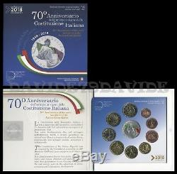 Divisionale Ufficiale Monete Euro Italia 2018 Argento Costituzione Fdc