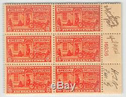 E13 15c Motorcycle, MINT NEVER HINGED PLATE BLOCK OF SIX! PRE-FIRST DAY 834054
