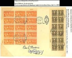 E13, Rare First Day Cover Block Of 15 Blh
