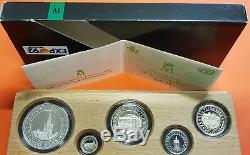ESPAÑA 100+200+500+1000+2000 PESETAS 1992 PLATA Quinto Centenario 4ª SERIE FDC