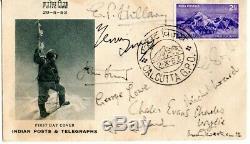 Edmund Hillary John Hunt & Tenzing Norgay Etc Hand Signed 2/6/53 FDC Mt Everest