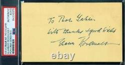 Eleanor Roosevelt PSA DNA Coa Hand Signed 1958 GPC Government Postcard Autograph