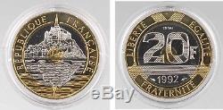 Essai de 20 francs Mont Saint Michel, 1992, FDC 25