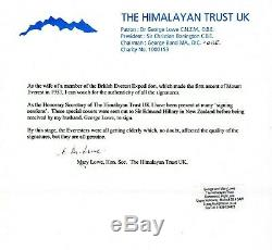 Everest 1953 NZ FDC Signed Hillary Lowe Westmacott Band Gregory- PROOF