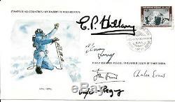Everest Hand Signed FDC Edmund Hillary Tenzing Norgay John Hunt Evans & Gregory