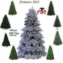 FDC Artificial Tree Artificial Christmas Tree Snow Flocked Aviemore 1.8m