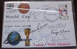 FDC (First Day Cover) 1966 World Cup Final team, signed by 10 players, 18 Aug 66