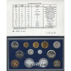 FRANCE 1988 Tranche A SERIE COFFRET FDC Fleur de Coin (13 monnaies)