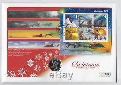 Father Christmas 2004 Gibraltar Christmas 50p Coin Cover PNC FDC Raymond Briggs