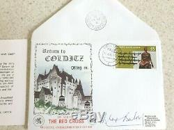 First Day Cover Stamp Return to Colditz Signed Douglas Bader WW2 RAF