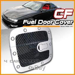 Fits 95-98 Nissan 240SX S14 Carbon Fiber Look Gas Fuel Oil Tank Door Cover