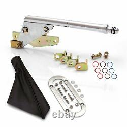 Floor Mount Emergency Parking Brake, Black Boot and Silver Trim Ring rod muscle