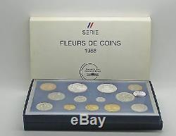 France 1988 Monnaie De Paris Fleurs De Coin FDC 13 Coin Set