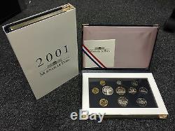 France Coffret Be 2001 En Francs Monnaie De Paris Rare