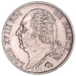 France Louis XVIII 1 Franc Argent 1822 A (paris) Spl / Fdc