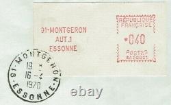 Frankreich ATM Montgeron Mi. Nr. 2.2 FDC als Einzelfrankatur 40 Centimes! RRR