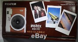 Fujifilm Instax Mini 90 Neo Classic Instant Film Camera (Brown) Brand New+ FILM