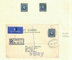 GB 10d PHOTOGRAVURE FDC London 1936 Air Mail Card CDS Costa Rica! SamwellsAp543