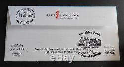 GB 2012 Turing double date Bletchley Date ERROR First Day Cover FDC Ltd Ed