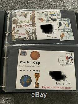 GB First Day Covers FDC Job Lot 544 In Total In 8 Albums Immaculate Condition