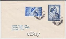 GB Stamps Rare First Day Cover 1948 Silver Wedding Hornsey Cds