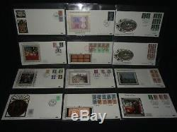 GB first day covers x 72 in album all Benham silks with various special cancels