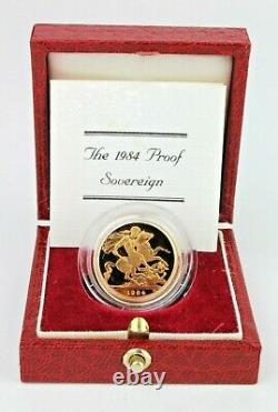 Gold Sovereign 1984 Proof Fdc Boxed As Issued