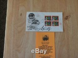 Grand Admiral Karl Donitz Signed+photo & Signed First Day Cover Rare Nice Cond