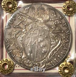 HN BOLOGNA Papa Pio VII 1818 A. XVIII scudo Ag FDC so679