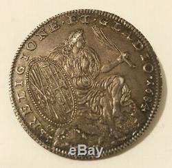 HN NAPOLI Carlo II di Spagna 1684 mezzo ducato Ag SPL-FDC sp287