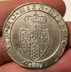 HN NAPOLI Ferdinando IV di Borbone 1805 piastra Ag SPL-FDC sn983