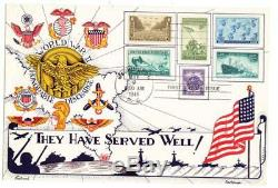 HONORABLE DISCHARGE ISSUE-Sc#940-FIRST DAY-FLEETWOOD D. W. KNAPP-MUL