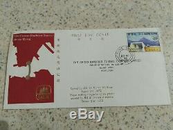 Hong Kong FDC 1972 $1 Cross Harbour Tunnel ILLUSTRATED FIRST DAY COVER STAMP