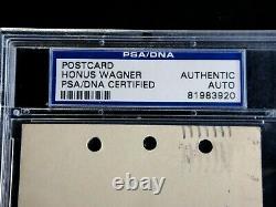 Honus Wagner Signed 1944 Psa/dna Certified Autograph Hof Pirates Gpc Postcard