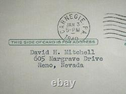 Honus Wagner Signed 1949 Psa/dna Certified Autograph Hof Pirates Gpc Postcard